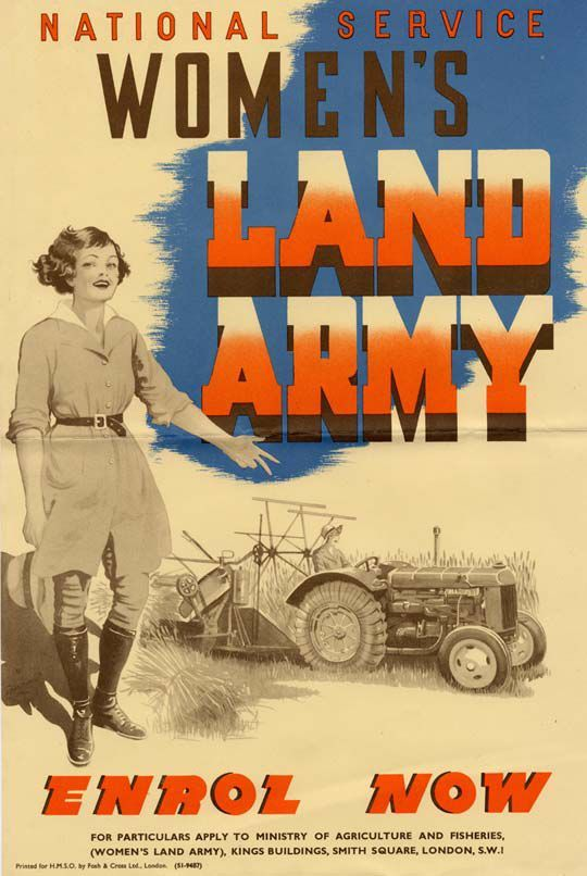 WWII Land Army recruitment poster