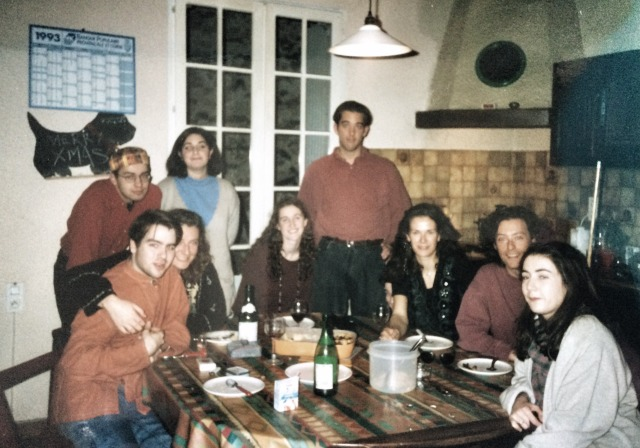 Christmas party time at M de Lambert's. Avignon 1993