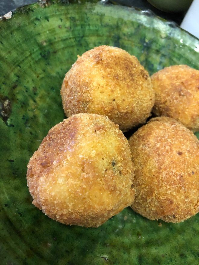 Kinda proud for a first try... my chicken & lemon arancini